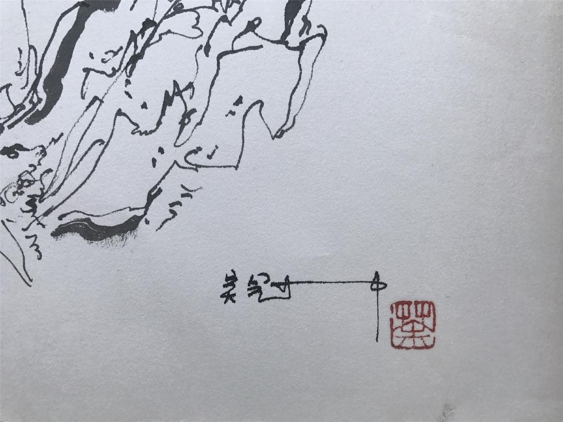 CHINESE ABSTRACT PAINTING OF MOUNTAIN VIEWS - 2
