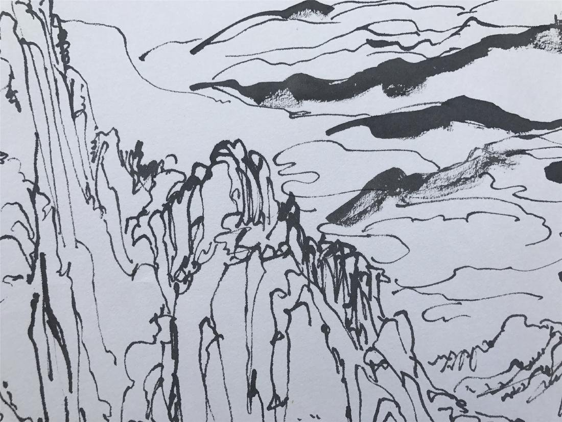 CHINESE ABSTRACT PAINTING OF MOUNTAIN VIEWS - 3