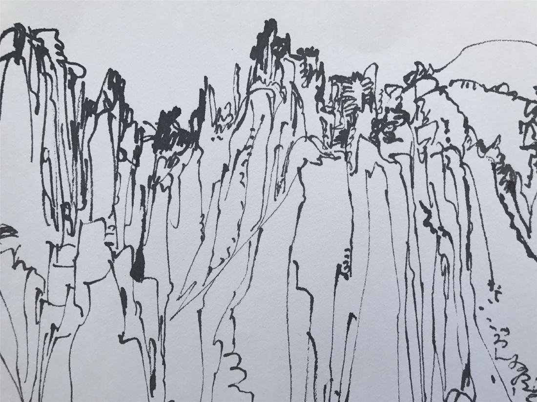 CHINESE ABSTRACT PAINTING OF MOUNTAIN VIEWS - 4