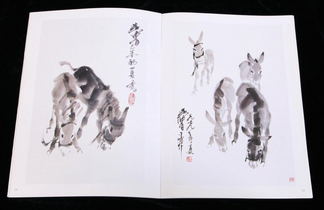 CHINESE SCROLL PAINTING OF DONKEY WITH PUBLICATION - 6