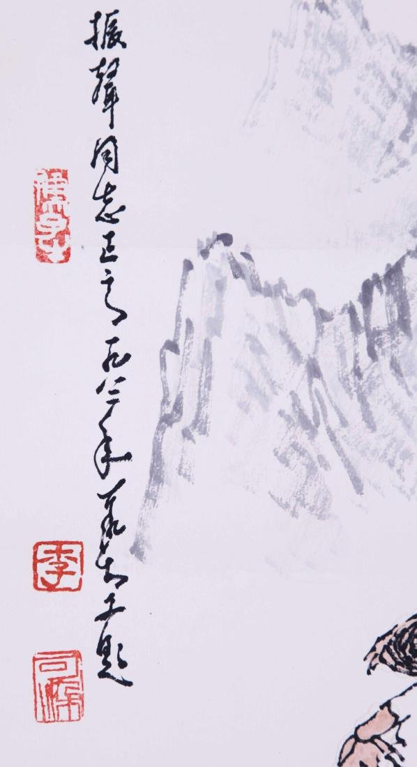 CHINESE SCROLL PAINTING OF COWBOY - 5