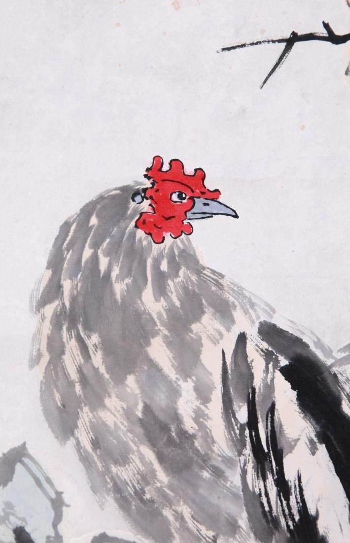 CHINESE SCROLL PAINTING OF ROOSTER - 5