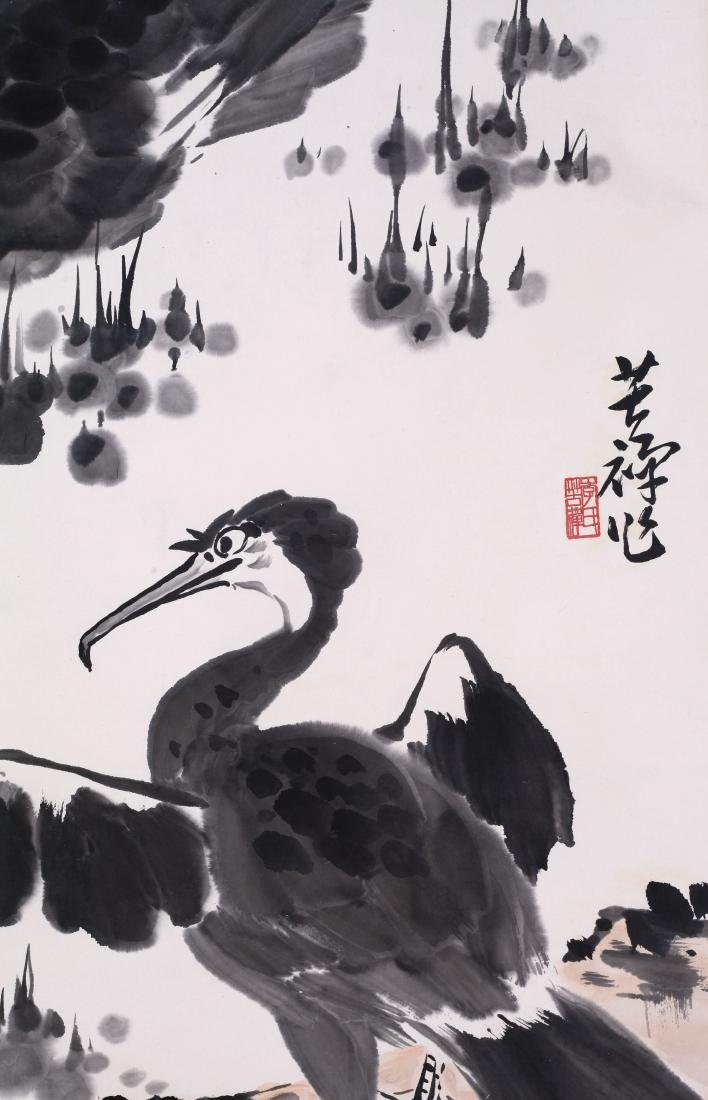 CHINESE SCROLL PAINTING OF DUCKS - 4