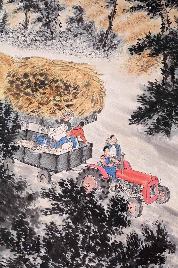 CHINESE SCROLL PAINTING OF FARM VIEWS - 2