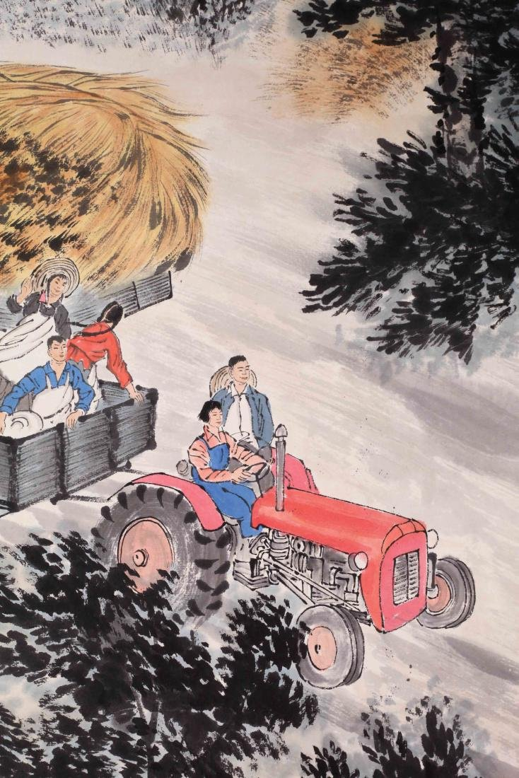 CHINESE SCROLL PAINTING OF FARM VIEWS - 3