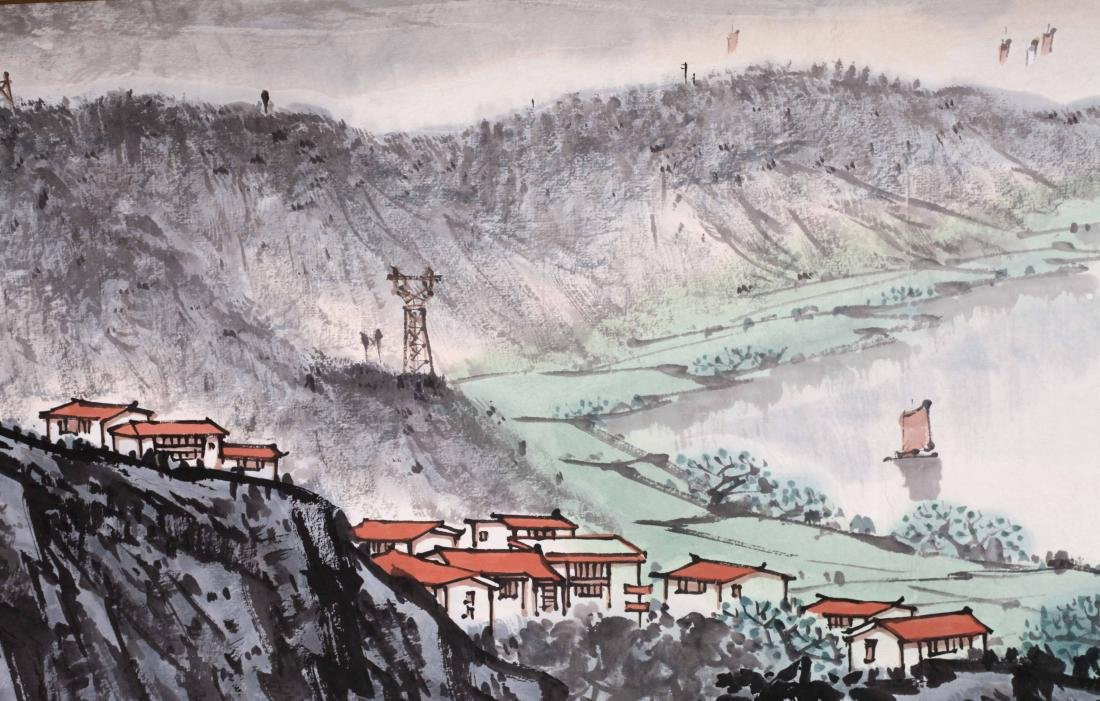 CHINESE HAND SCROLL PAINTING OF MOUNTAIN VIEWS WITH - 2