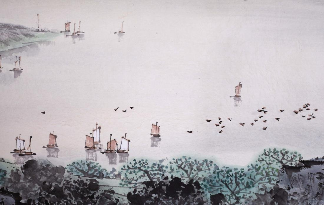 CHINESE HAND SCROLL PAINTING OF MOUNTAIN VIEWS WITH - 3