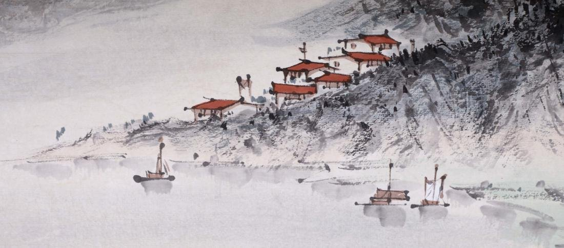 CHINESE HAND SCROLL PAINTING OF MOUNTAIN VIEWS WITH - 4