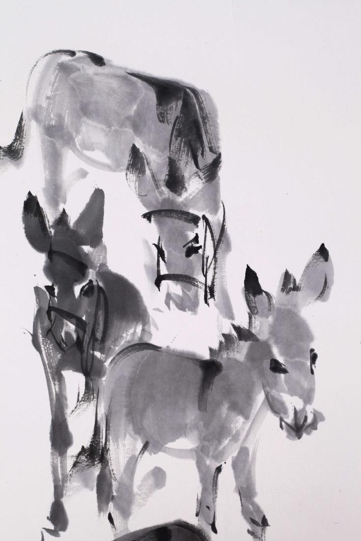 CHINESE SCROLL PAINTING OF DONKEY WITH PUBLICATION - 3