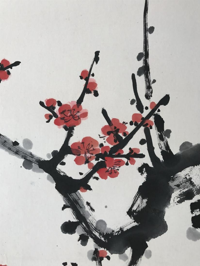 CHINESE SCROLL PAINTING OF BAMBOO AND PLUM - 3