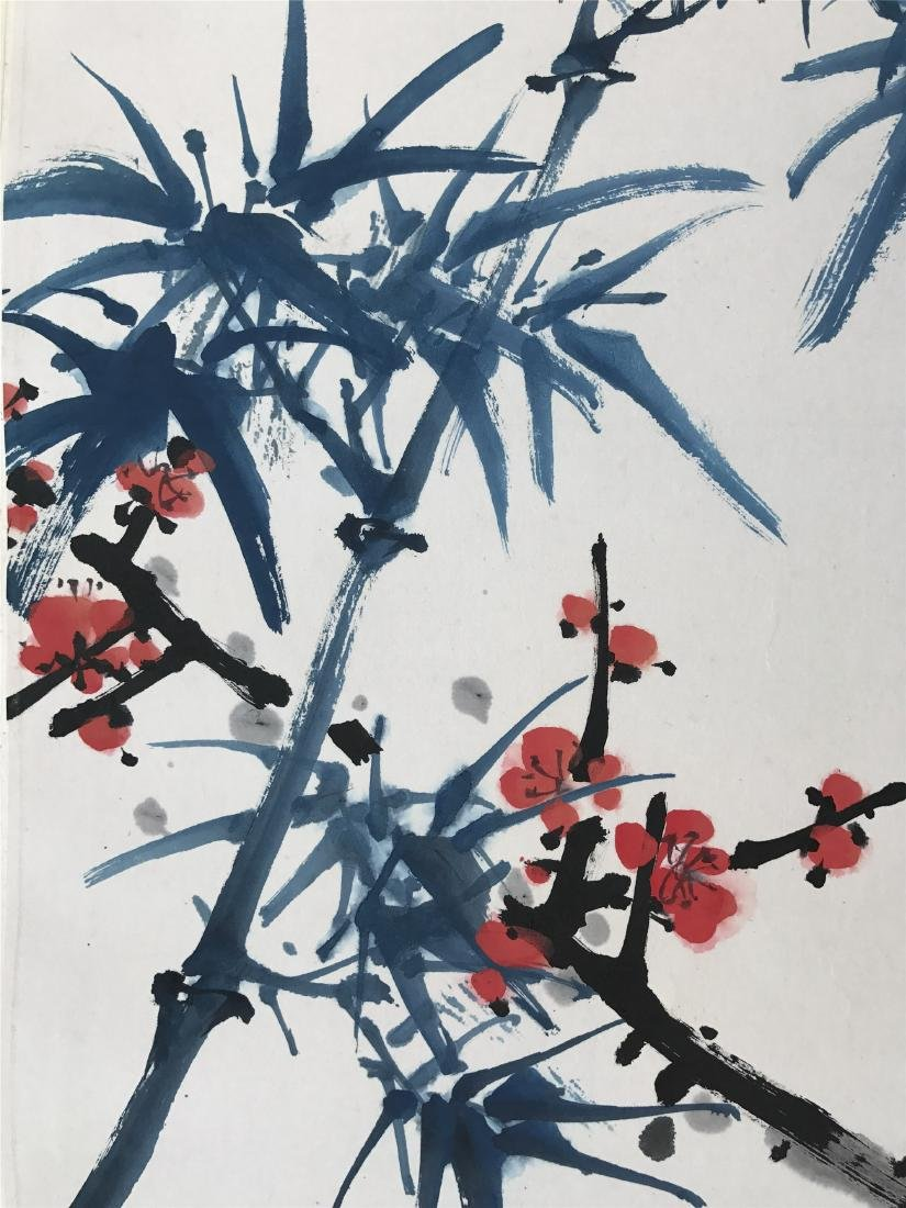 CHINESE SCROLL PAINTING OF BAMBOO AND PLUM - 5