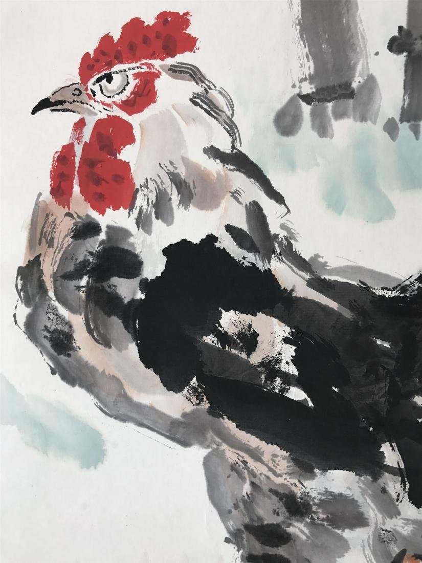 CHINESE SCROLL PAINTING OF ROOSTER - 3