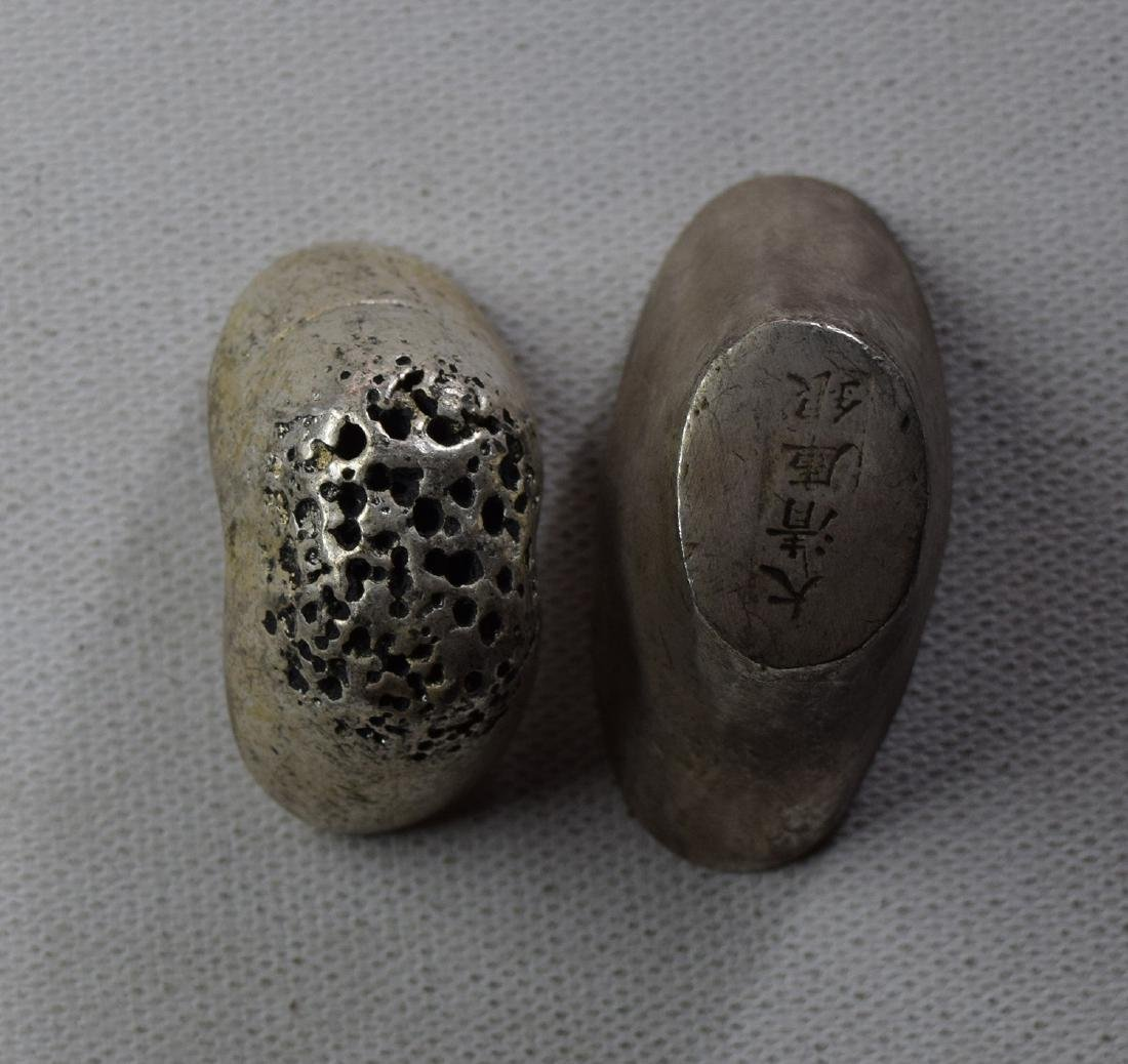 TWO CHINESE SILVER INGOTS - 2