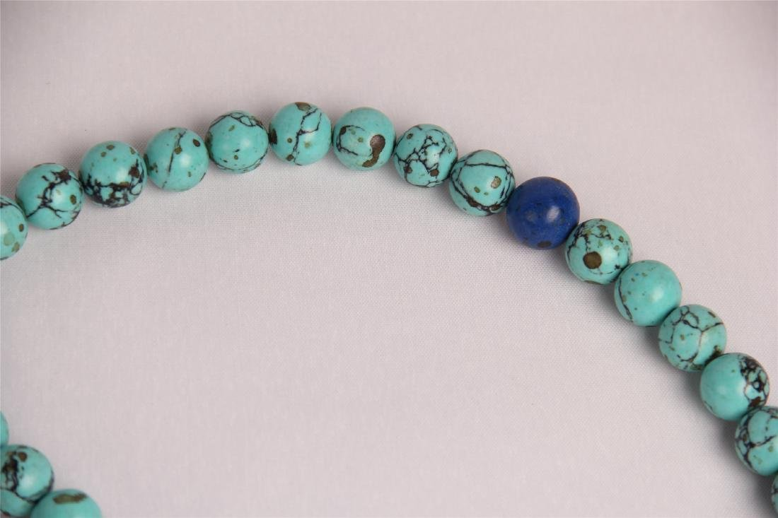 CHINESE TURQUOISE BEADS COURT NECKLACE CHAOZHU - 5