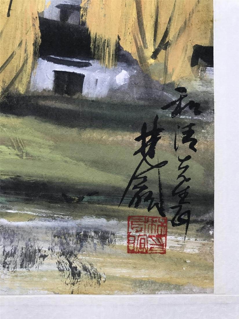 CHINESE SCROLL PAINTING OF LANDSCAPE - 2