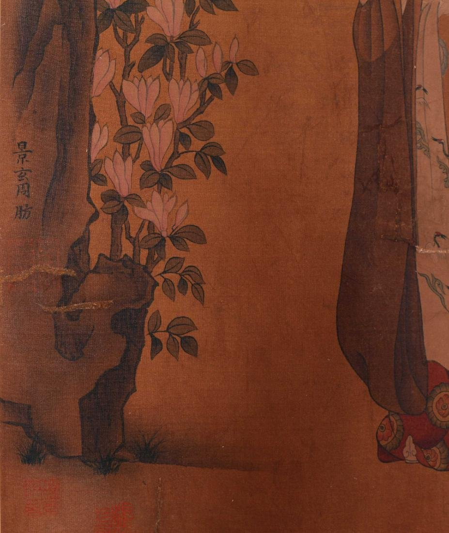 CHINESE SCROLL PAINTING OF COURT LADIES - 5