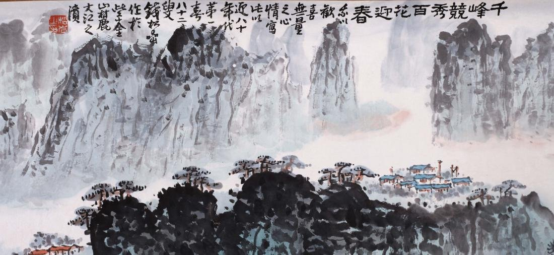 CHINESE HAND SCROLL PAINTING OF MOUNTAIN VIEWS WITH - 5