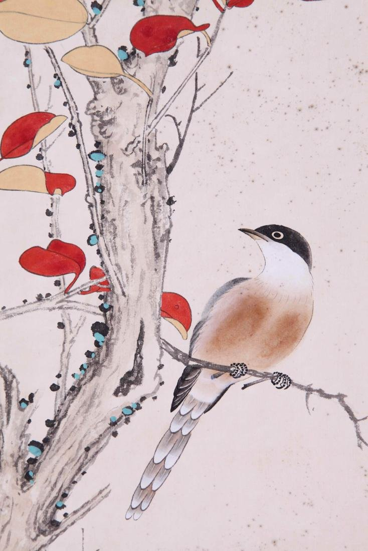 CHINESE SCROLL PAINTING OF BIRD AND FLOWRE - 2