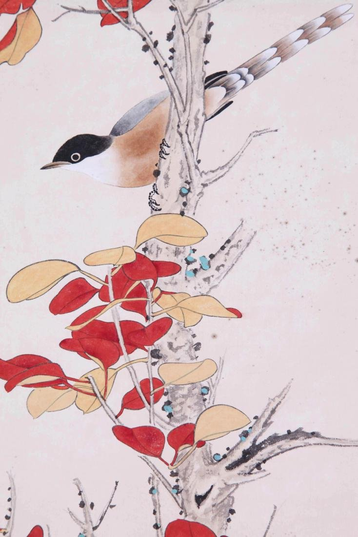 CHINESE SCROLL PAINTING OF BIRD AND FLOWRE - 3