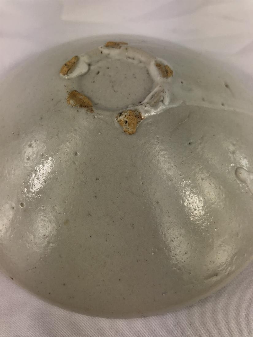 CHINESE PORCELAIN WHITE GLAZE DISH - 3