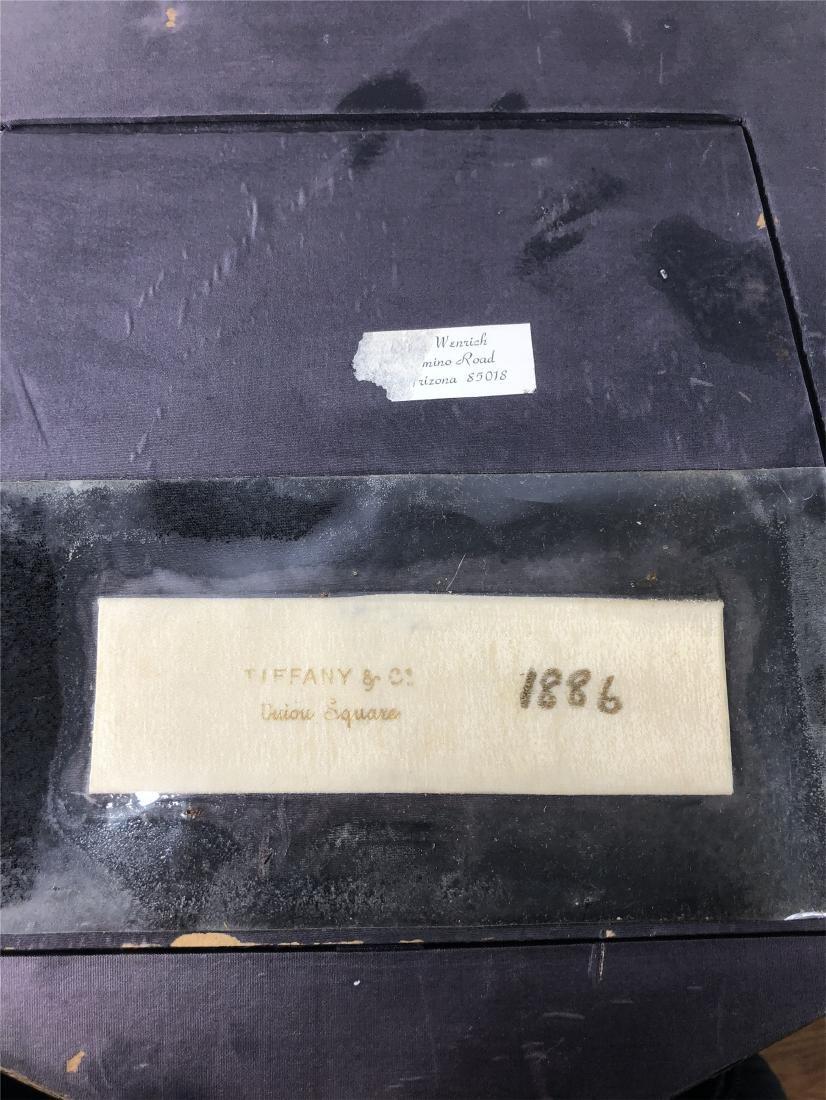 FRAMED TIFFANY FAN OF 1886 - 5