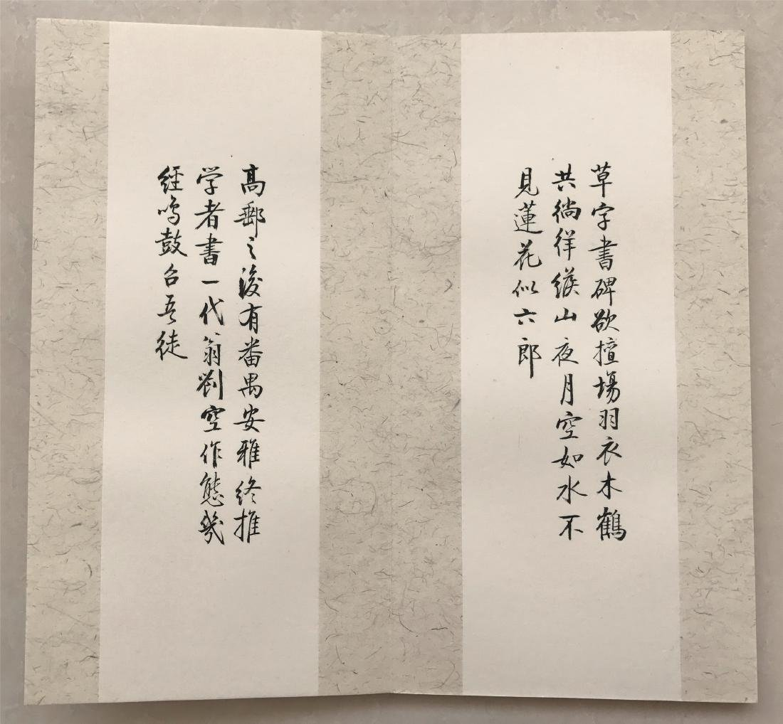 TWEELVE PAGES OF CHINESE ABLUM CALLIGRAPHY ON PAPER - 4
