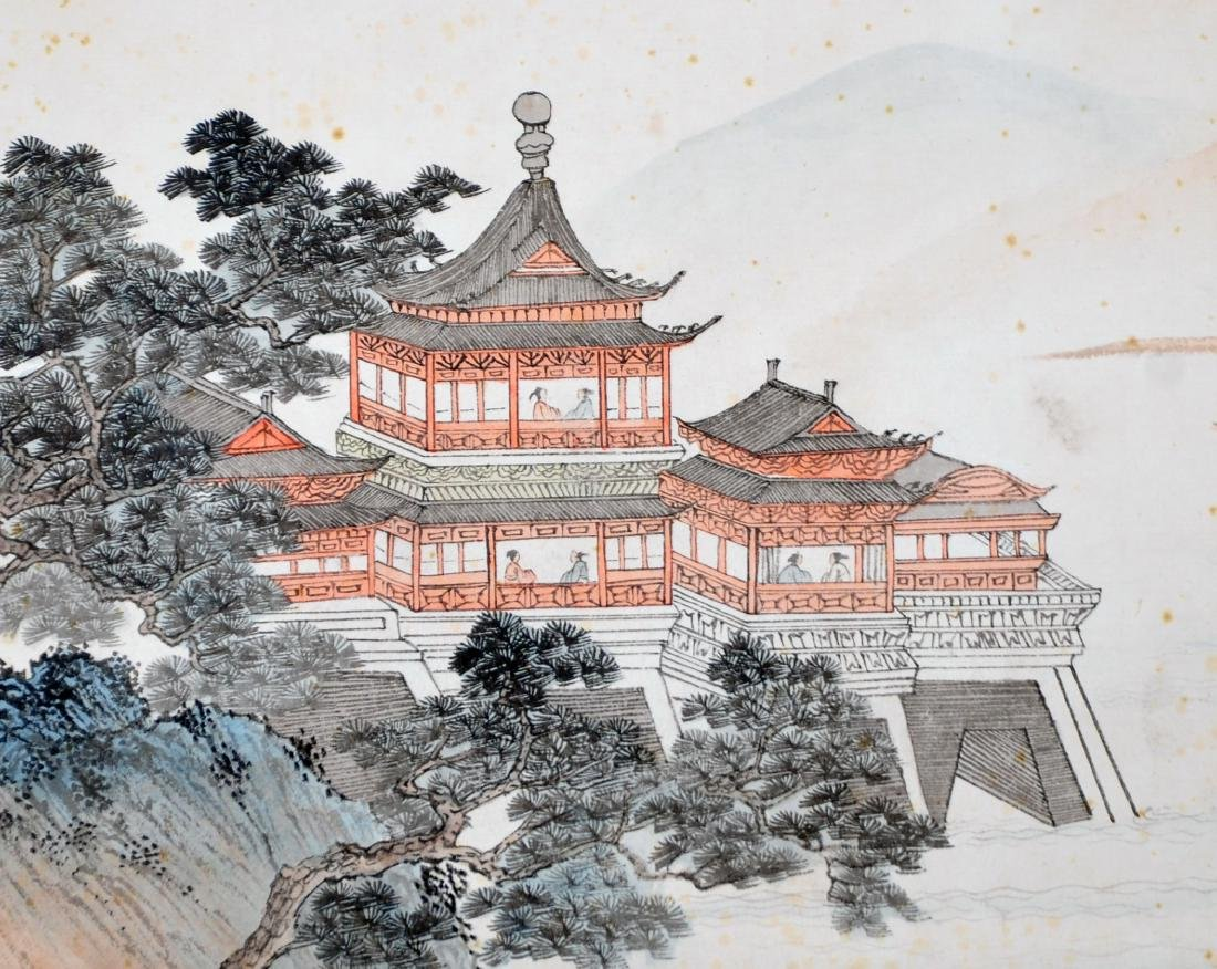 CHINESE HAND SCROLL PAINTING OF MOUNTAIN VIEWS - 2