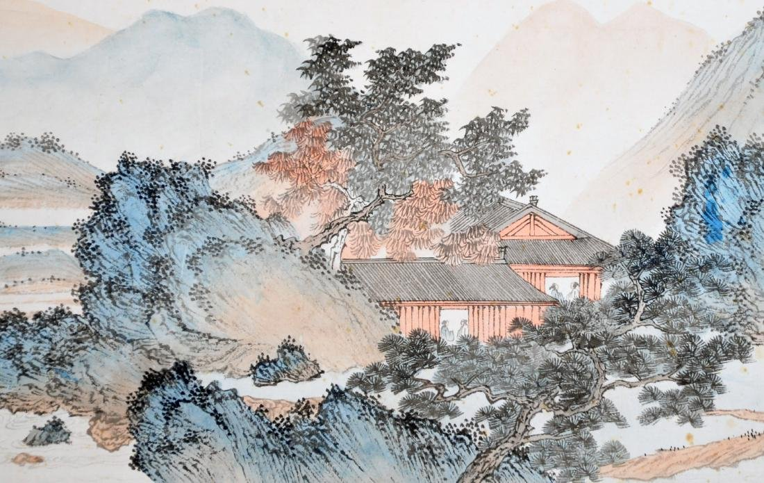 CHINESE HAND SCROLL PAINTING OF MOUNTAIN VIEWS - 3