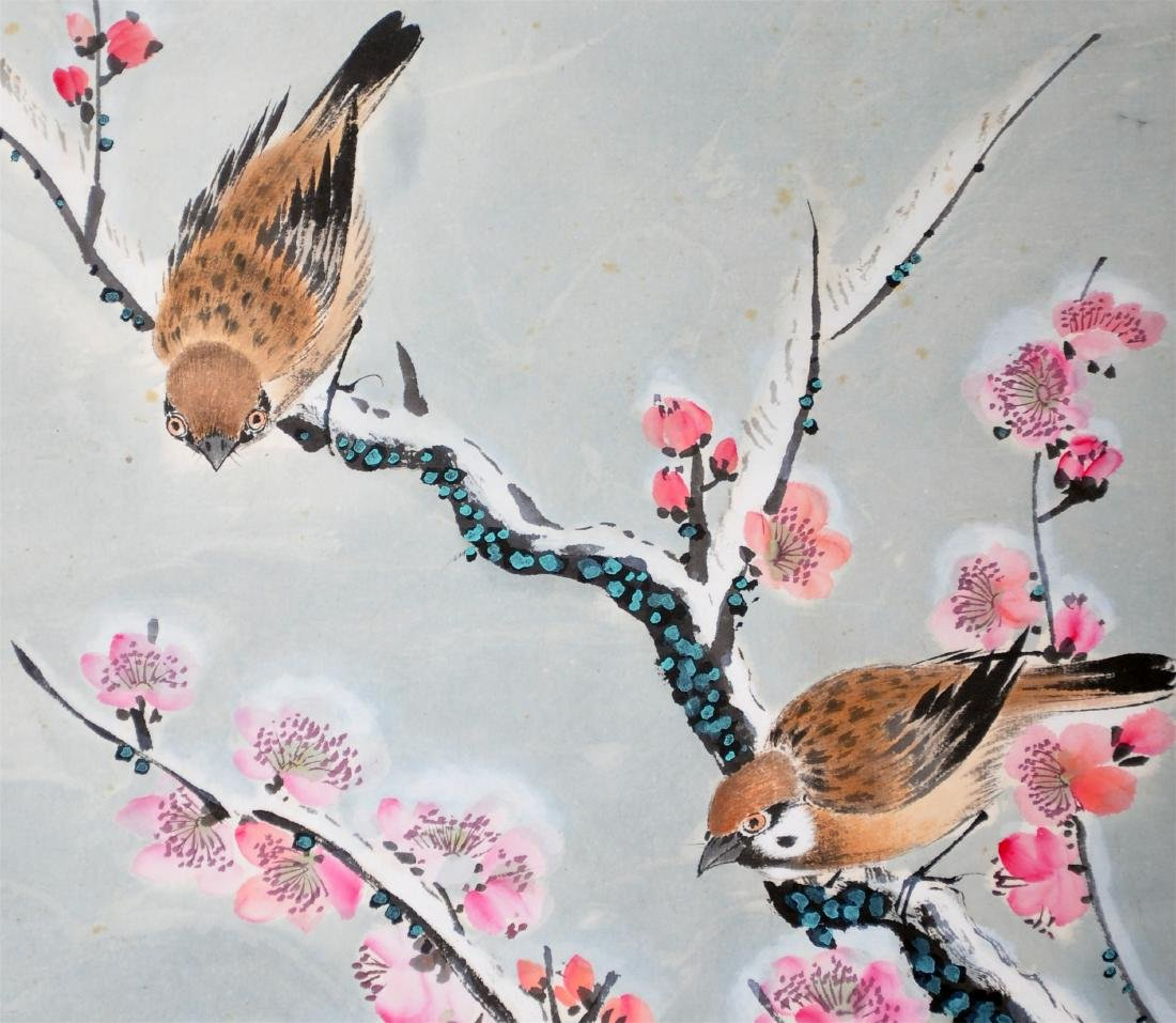 CHINESE SCROLL PAINTING OF BIRDS AND FLOWER - 3