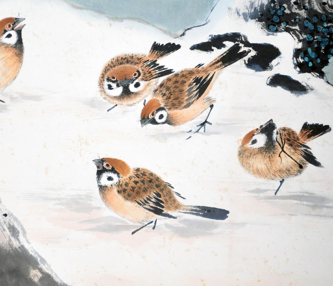 CHINESE SCROLL PAINTING OF BIRDS AND FLOWER - 4
