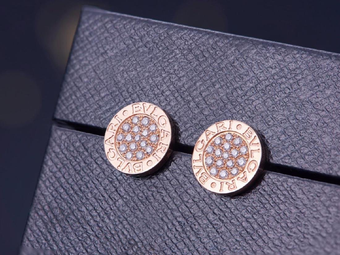 BVLGARI BVLGARI 18K GOLD DIAMOND EARRINGS