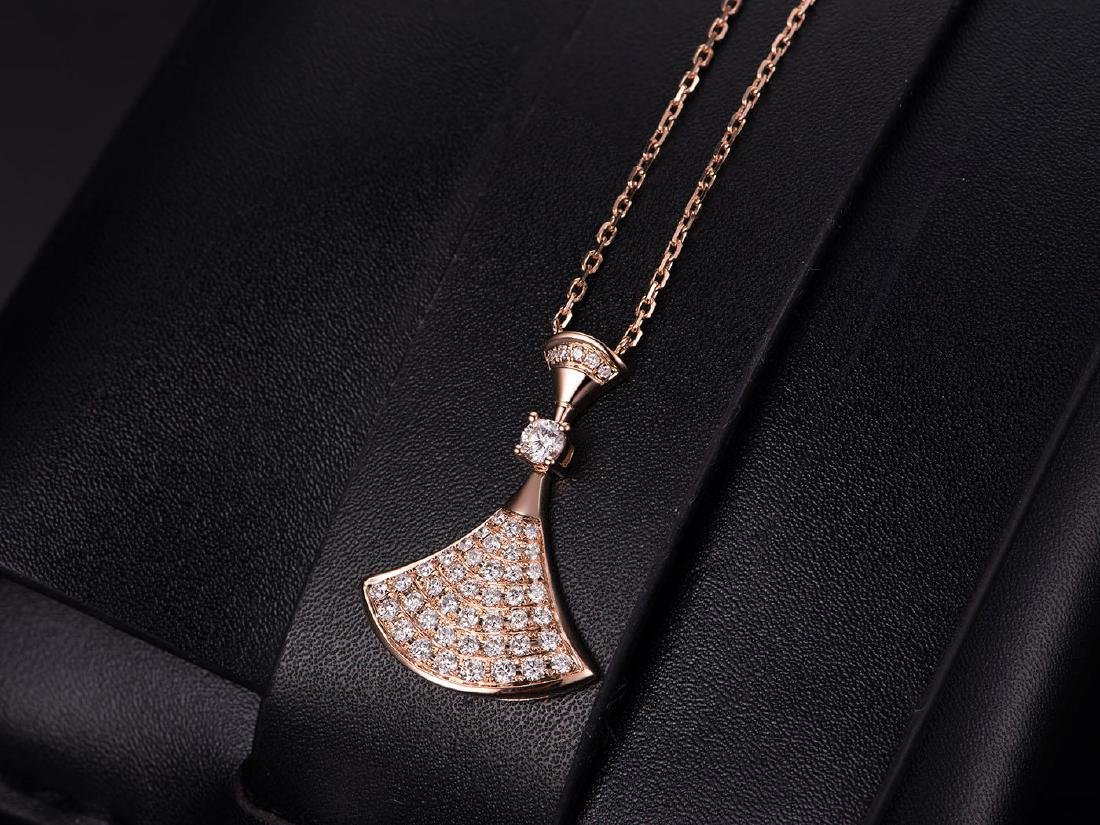 BVLGARI DAVIS' DREAM 18K ROSE GOLD DIAMOND NECKLACE