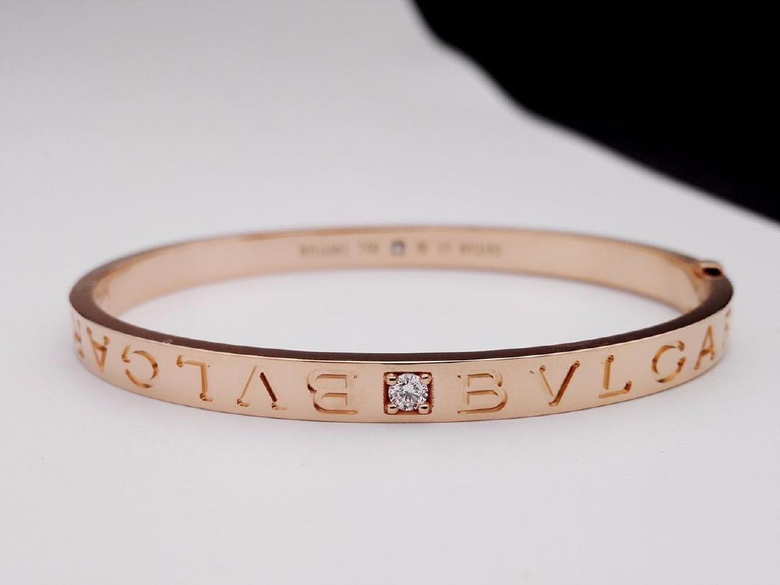 BVLGARI BVLGARI 18K ROSE GOLD DIAMOND BRACELET