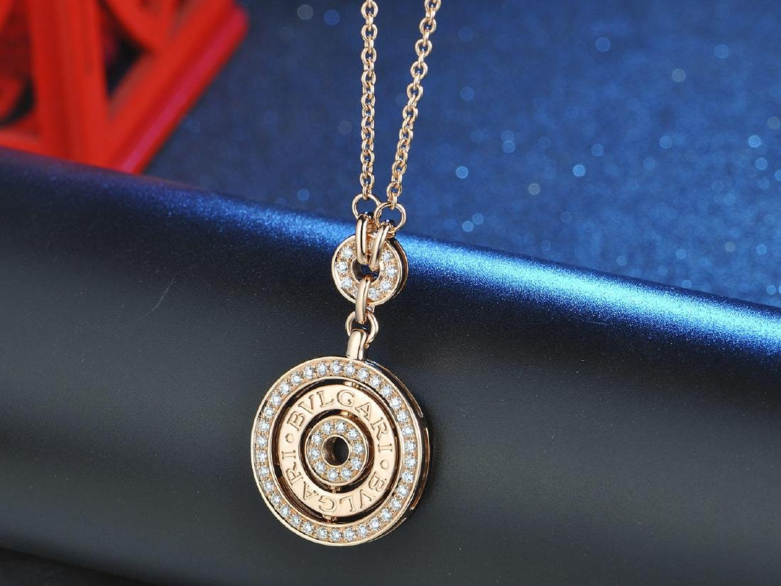 BVLGARI BVLGARI 18K DIAMOND PENDANT NECKLACE
