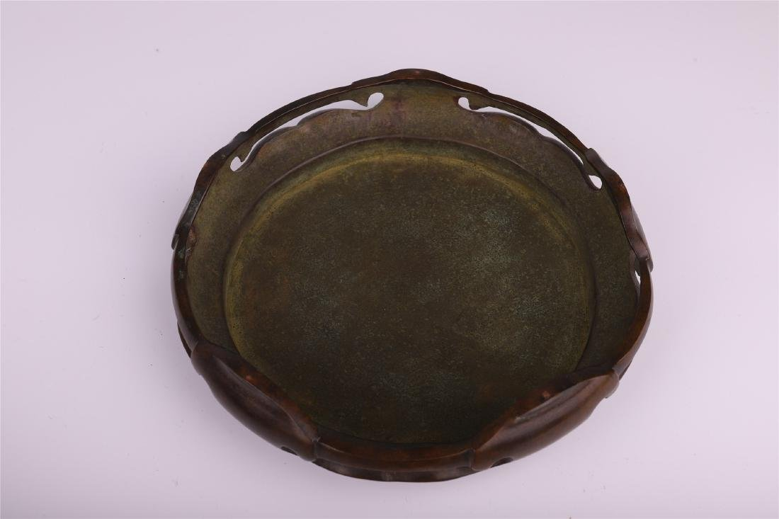 LARGE CHINESE BRONZE COPPER CENSER WITH ARABIC - 10