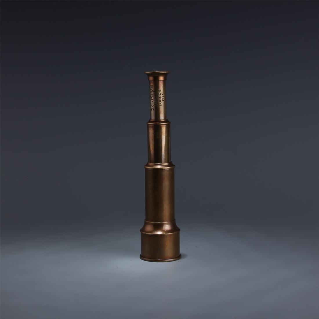 BRITISH COPPER SINGLE-TUBE TELESCOPE