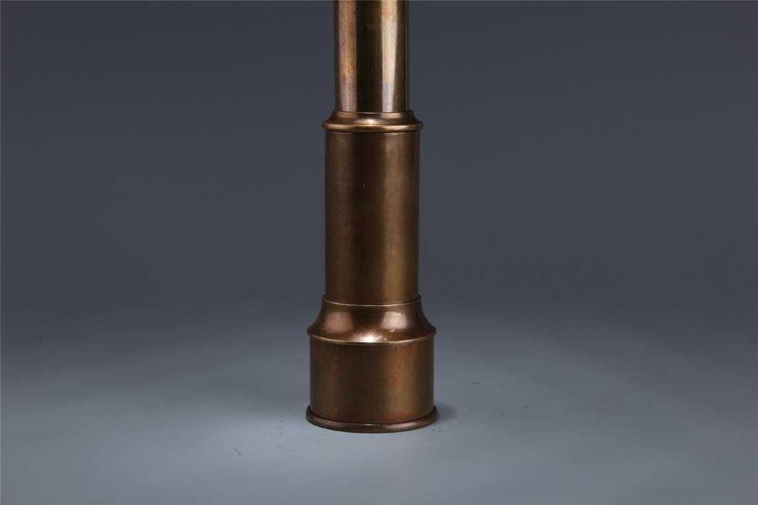 BRITISH COPPER SINGLE-TUBE TELESCOPE - 3
