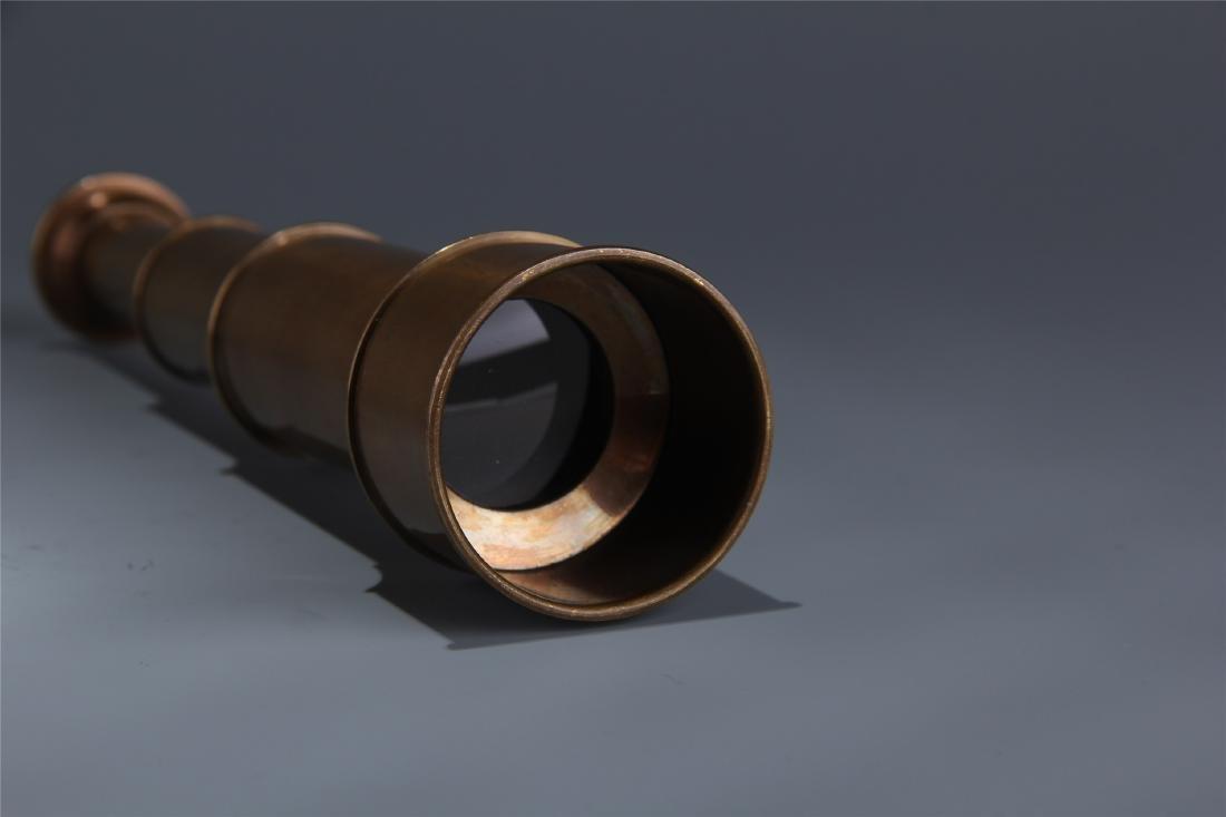 BRITISH COPPER SINGLE-TUBE TELESCOPE - 5