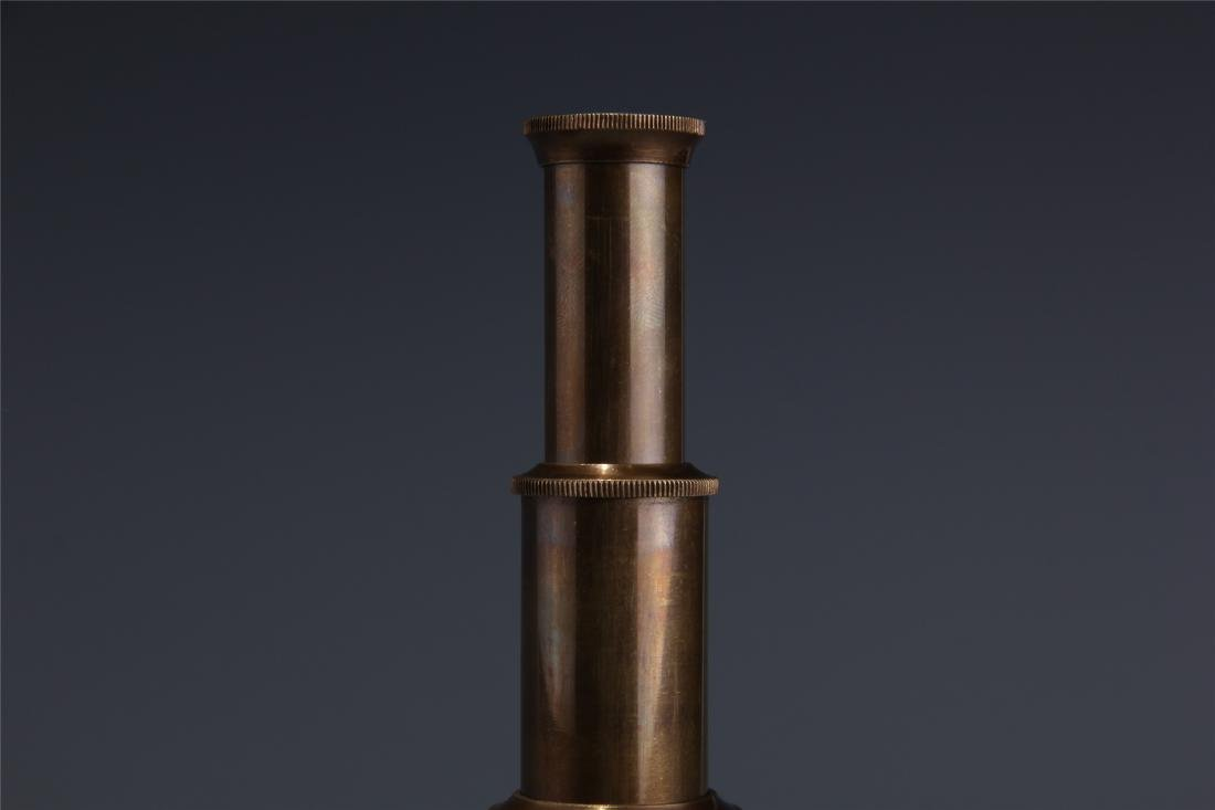 BRITISH COPPER SINGLE-TUBE TELESCOPE - 3