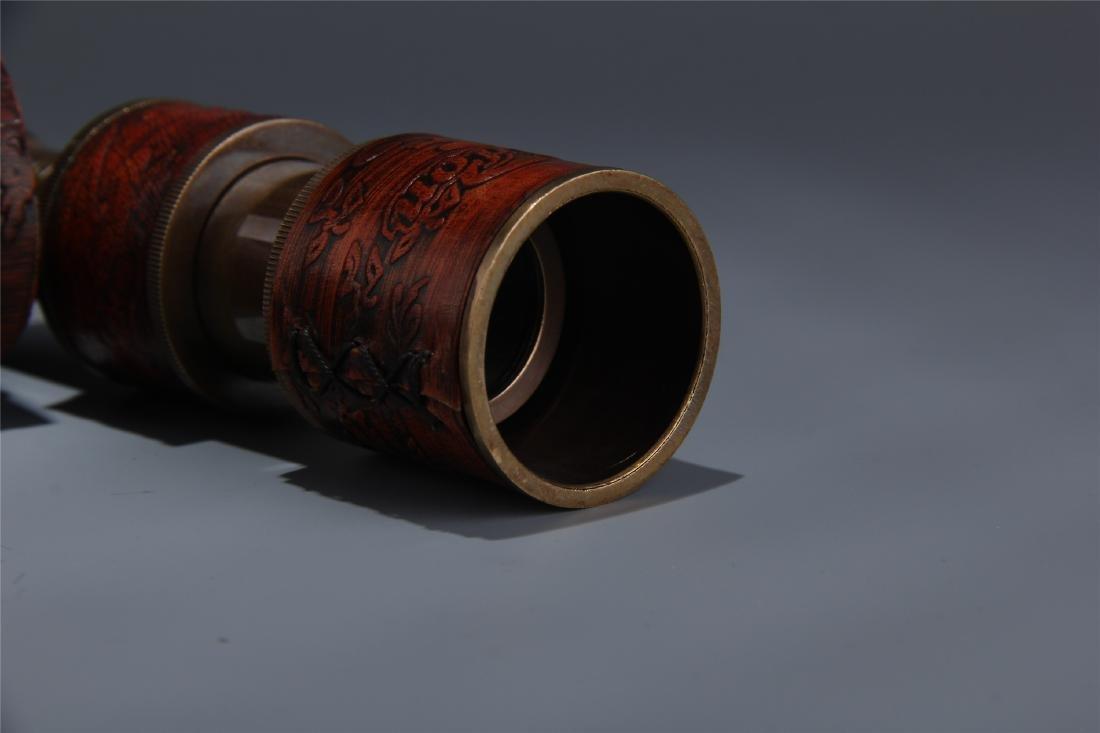 BRITISH COPPER SINGLE-TUBE TELESCOPE - 6