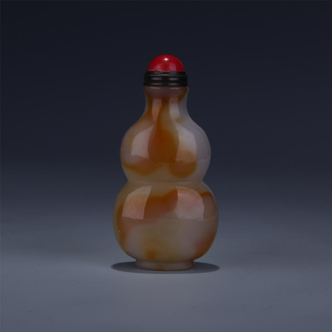 CHINESE AGATE GOURD SNUFF BOTTLE