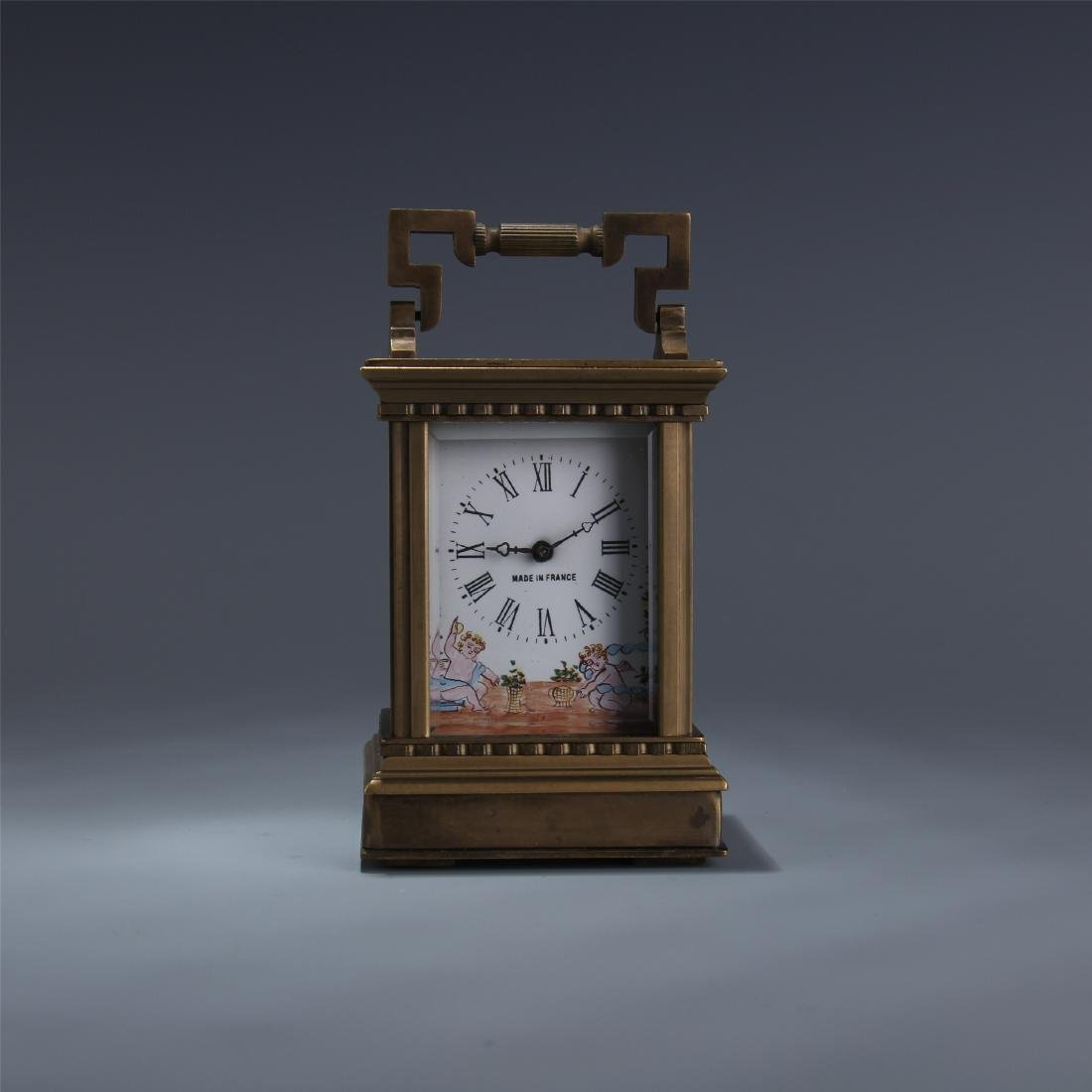 EUROPEAN BRONZE DOUBLE DIAL CLOCK