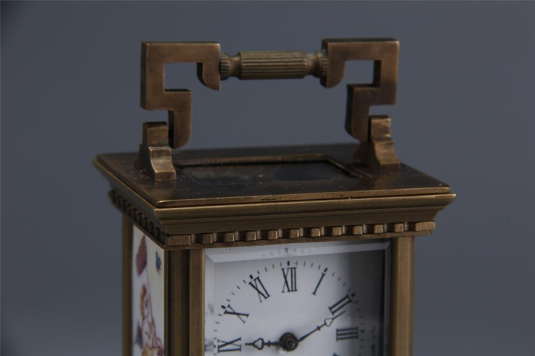 EUROPEAN BRONZE DOUBLE DIAL CLOCK - 2