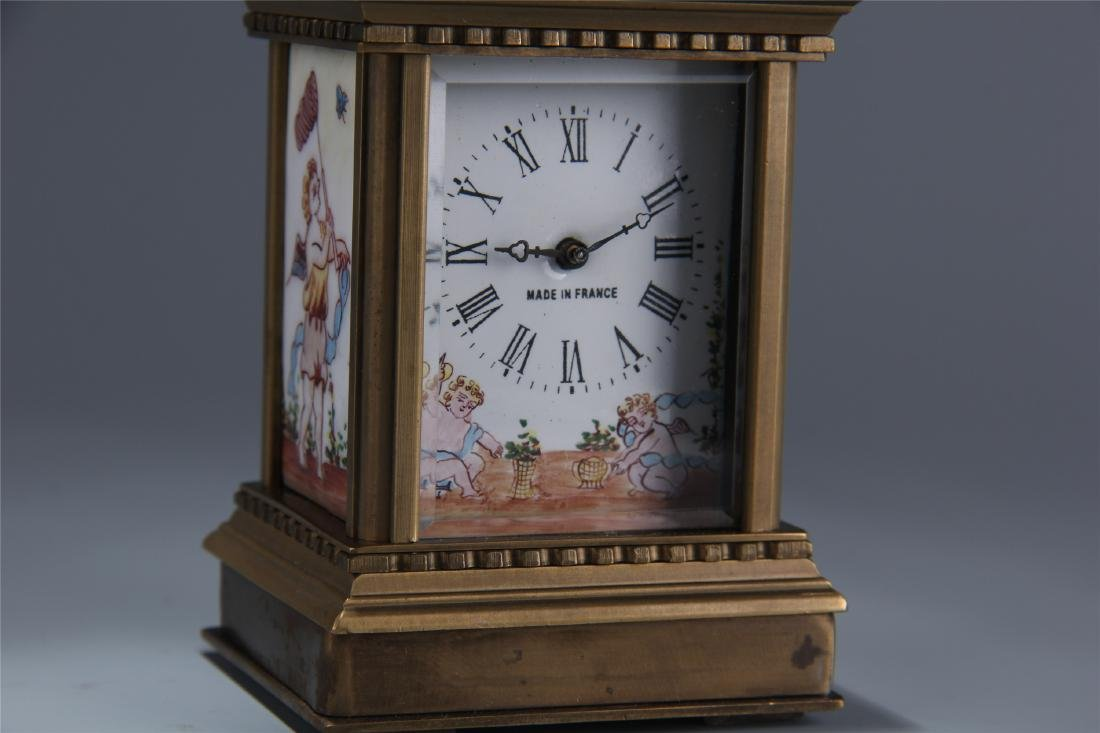 EUROPEAN BRONZE DOUBLE DIAL CLOCK - 3