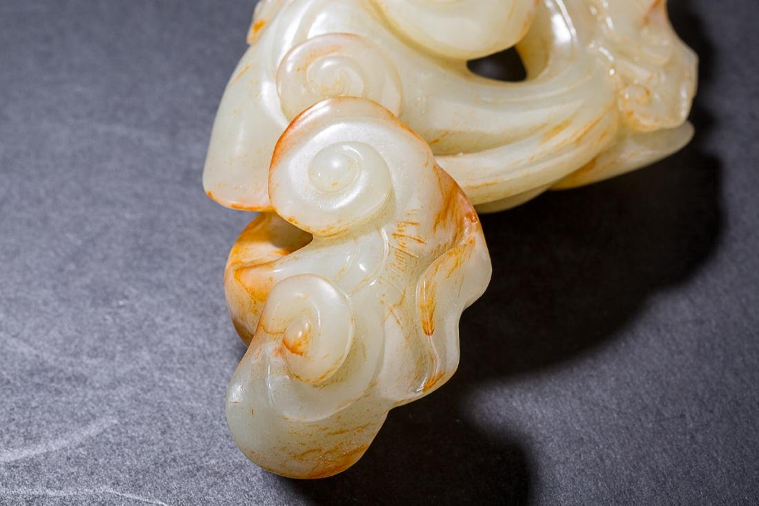 CHINESE CELADON JADE LINCHI RUYI SECPTER - 4