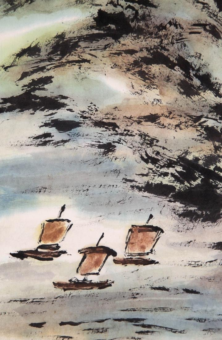 CHINESE SCROLL PAINTING OF MOUNTAIN VIEWS - 3