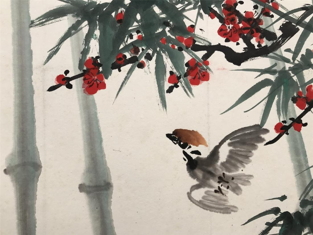 CHINESE SCROLL PAINTING OF BIRD AND BAMBOO - 3