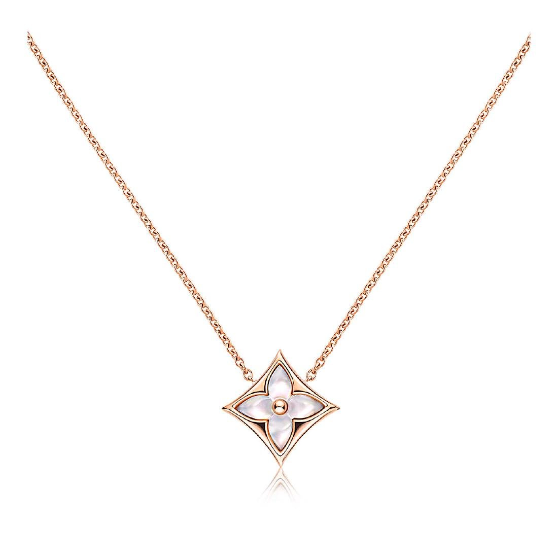 LOUIS VUITTON 18K ROSE GOLD MOTHER OF PEARL PENDANT