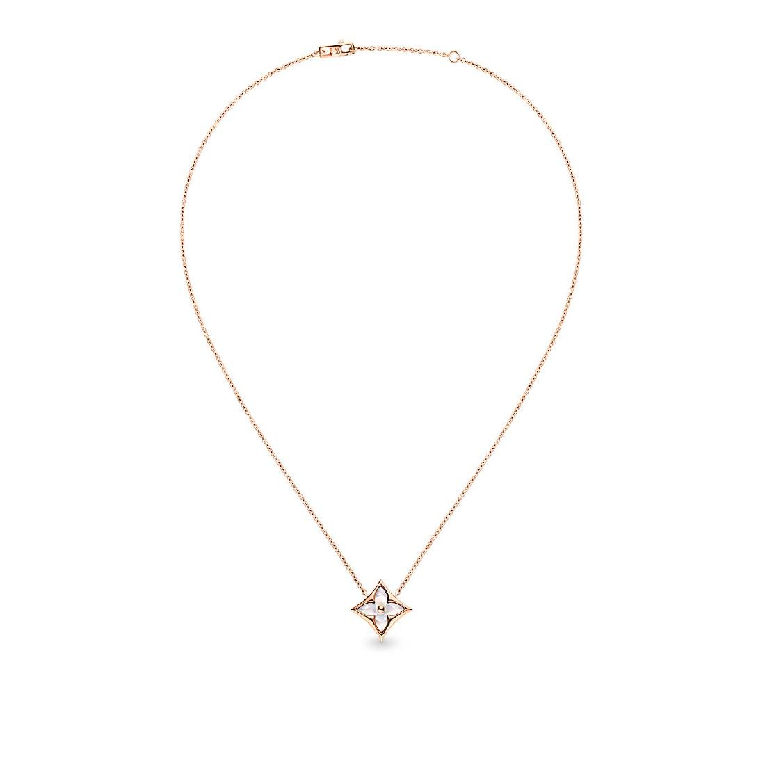 LOUIS VUITTON 18K ROSE GOLD MOTHER OF PEARL PENDANT - 2