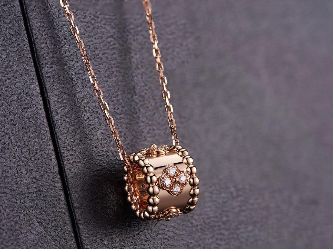 VAN CLEEF ARPELS  18K ROSE GOLD DIAMOND NECKLACE